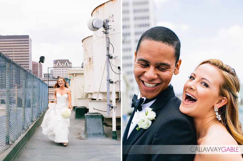 Bridal Portraits at LA Athletic Club Wedding