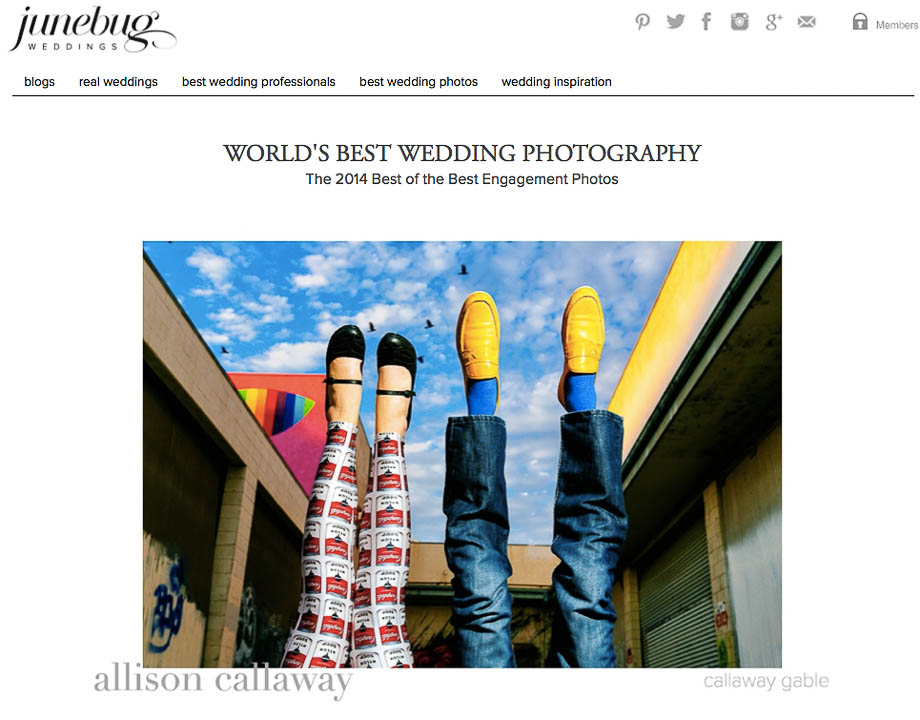 Junebug Weddings Best of the Best Engagement Photos 2014