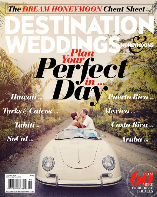 Destination Weddings Magazine Cover