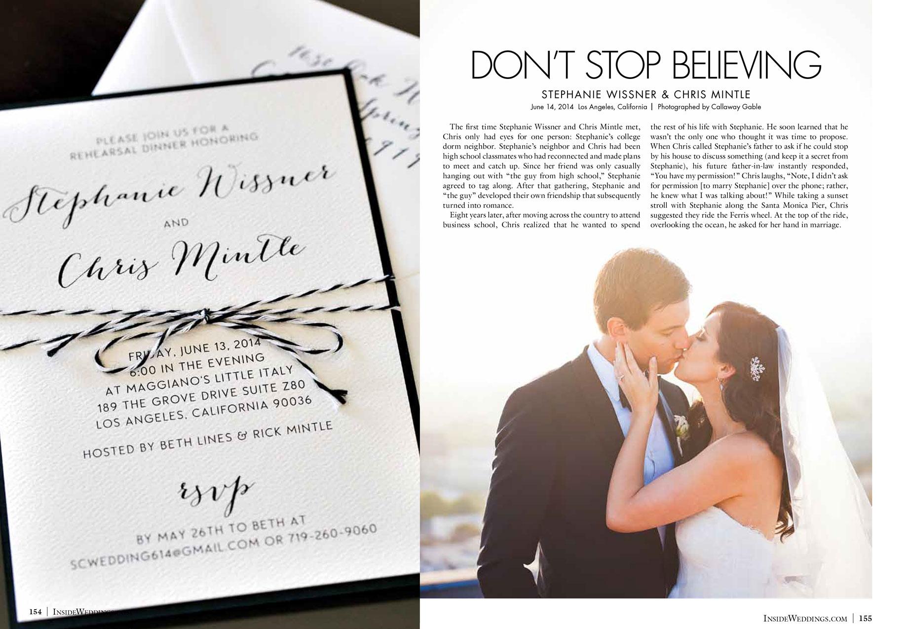 Inside Weddings Magazine