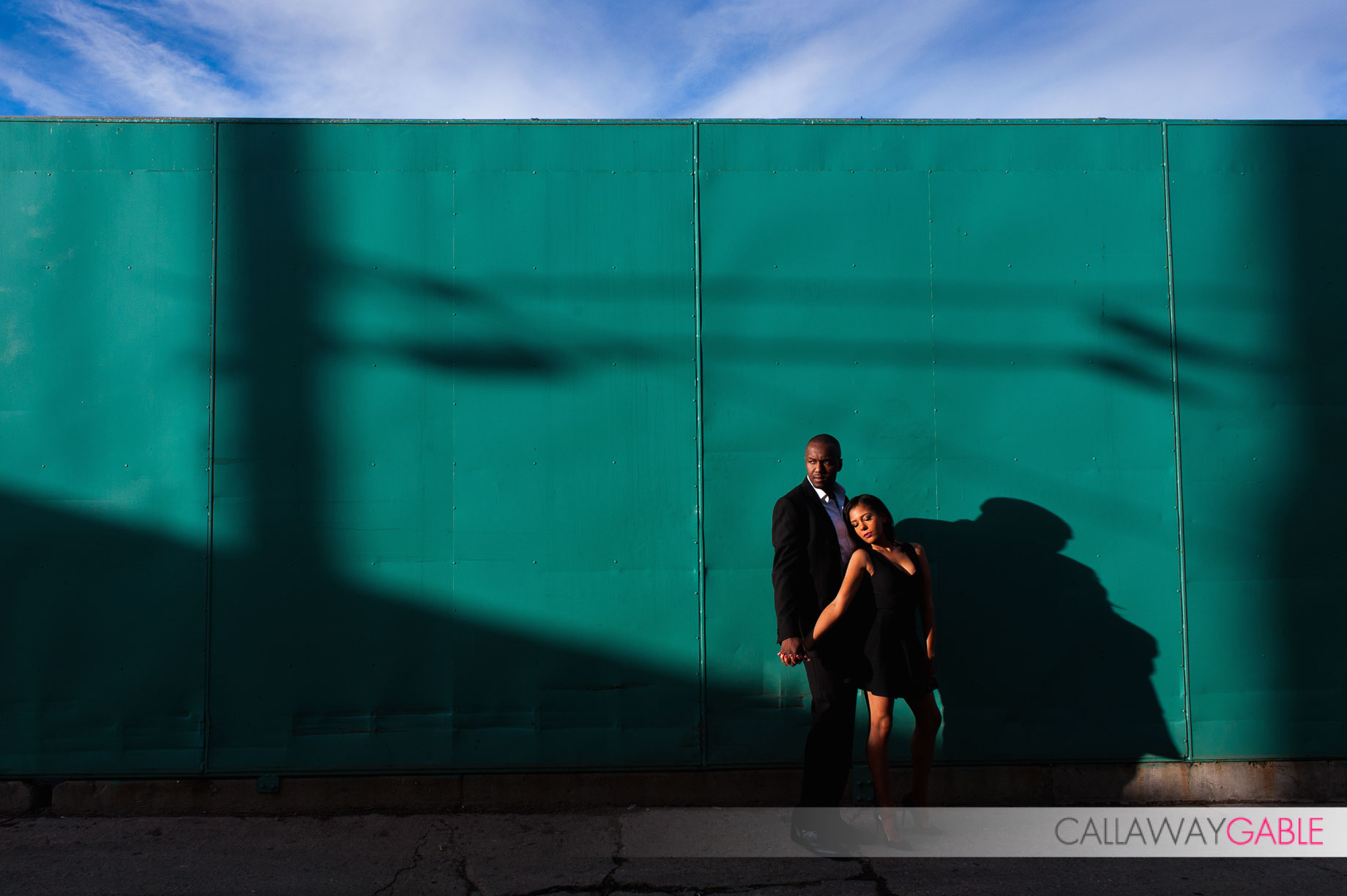Fun Engagement Photo in downtown San Pedro
