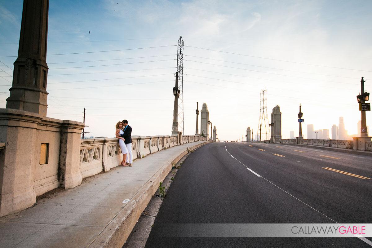 4th Street Bridge Engagement Photo