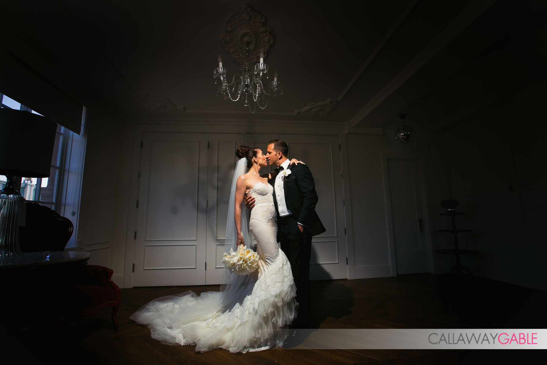 Amazing Bride and Groom wedding portrait at Culver Hotel