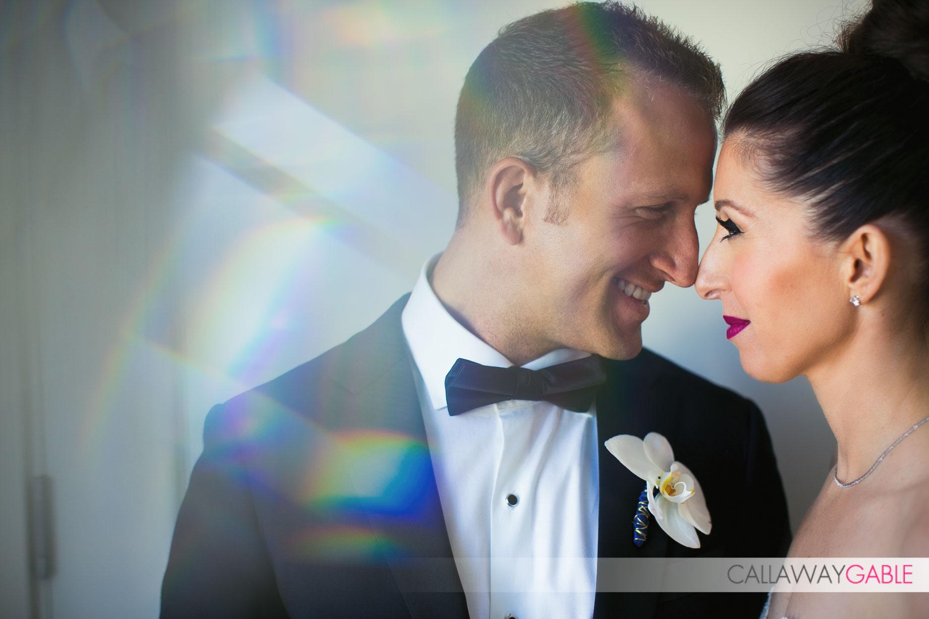 Bride and Groom portrait at Culver Hotel