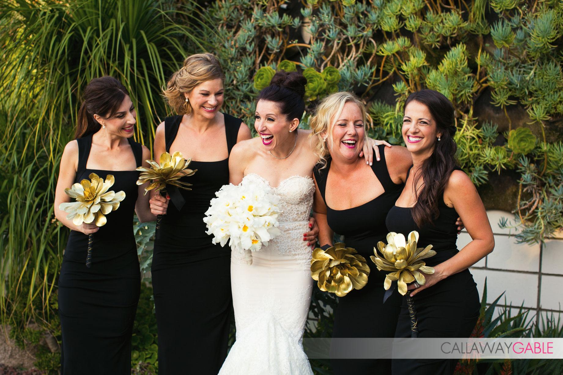 Bridesmaids at a Smog Shoppe Wedding