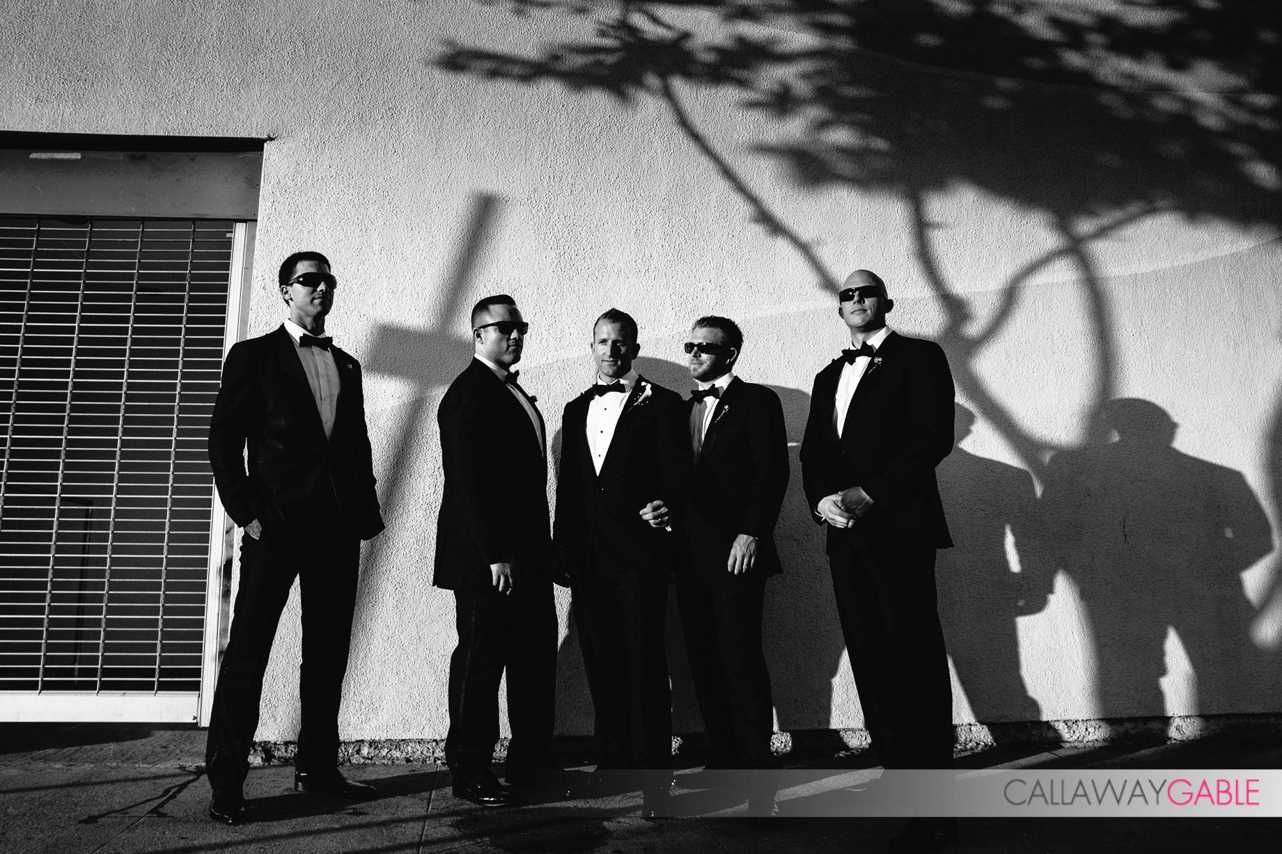 Groomsmen at a Smog Shoppe Wedding