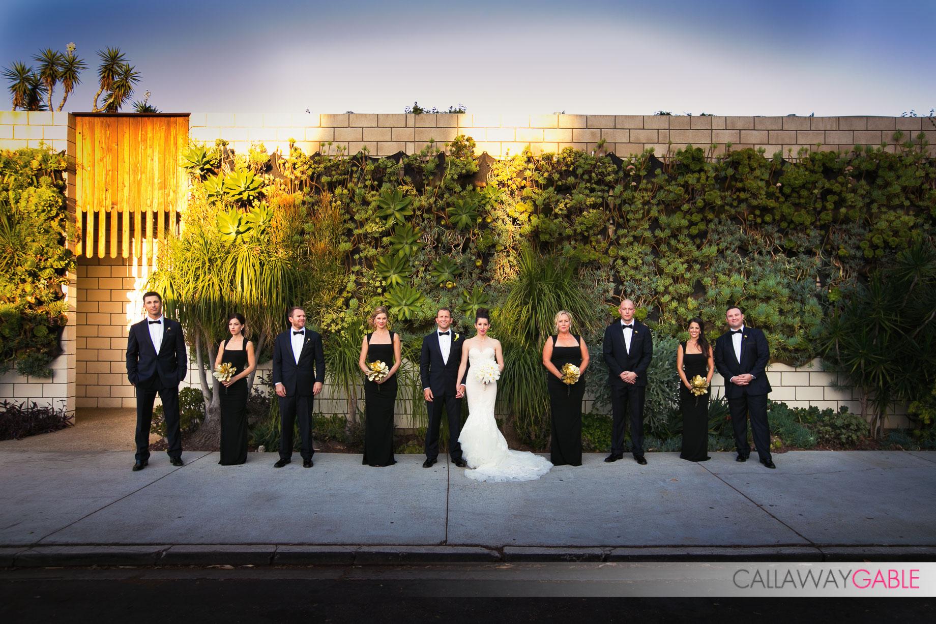 Bridal Party at Smog Shoppe Wedding