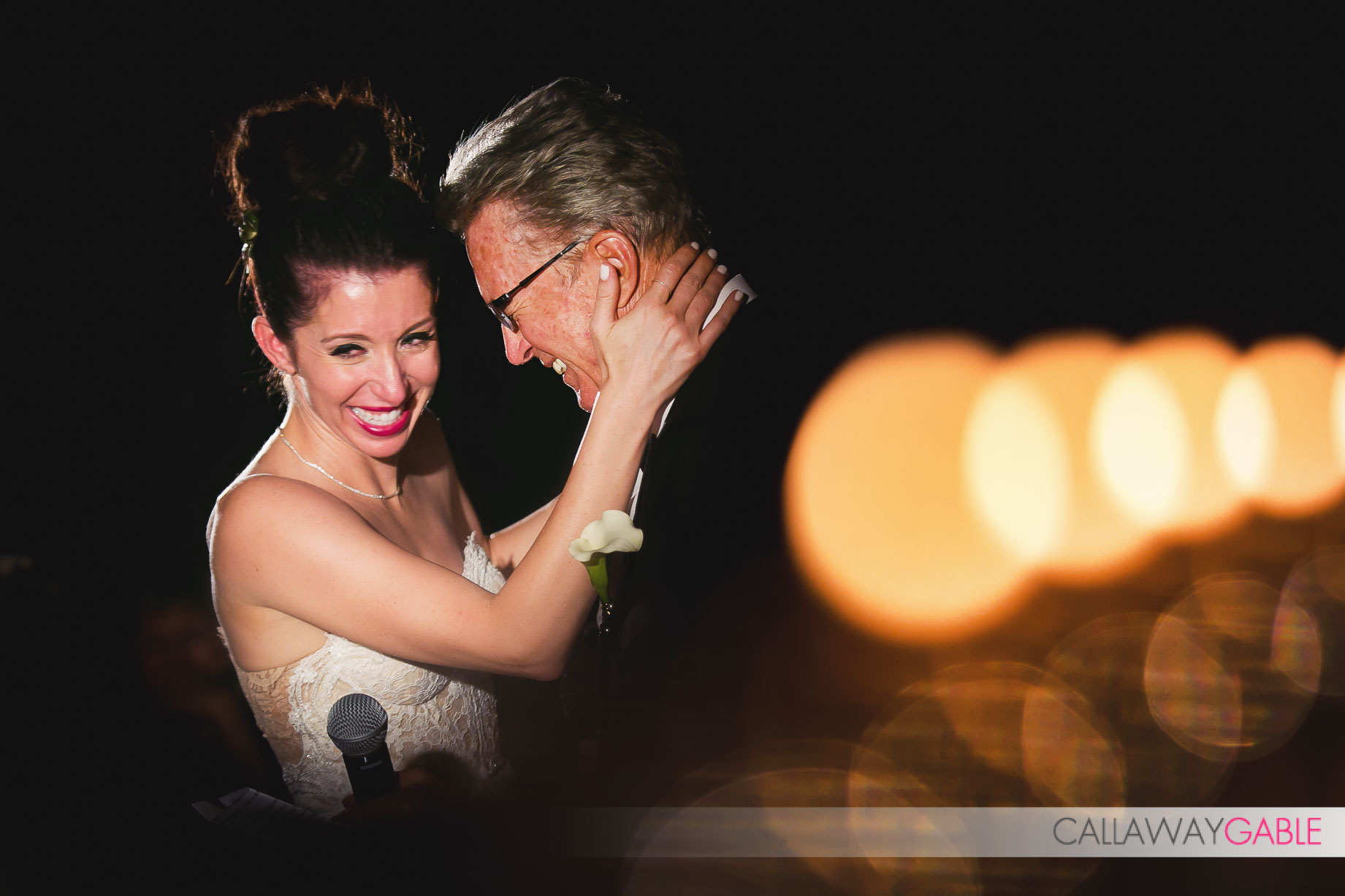 Father and Daughter dance for the first time at her wedding at Smog Shoppe