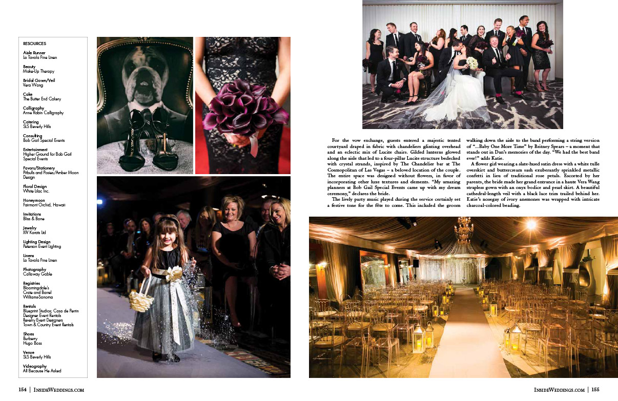 New Years Eve Wedding in Inside Weddings Magazine Page 3