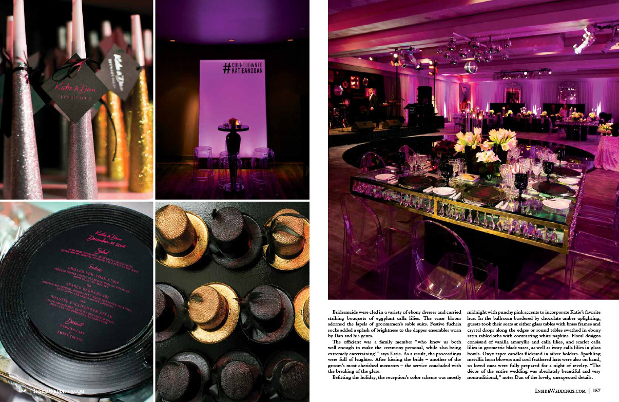 New Years Eve Wedding in Inside Weddings Magazine Page 2