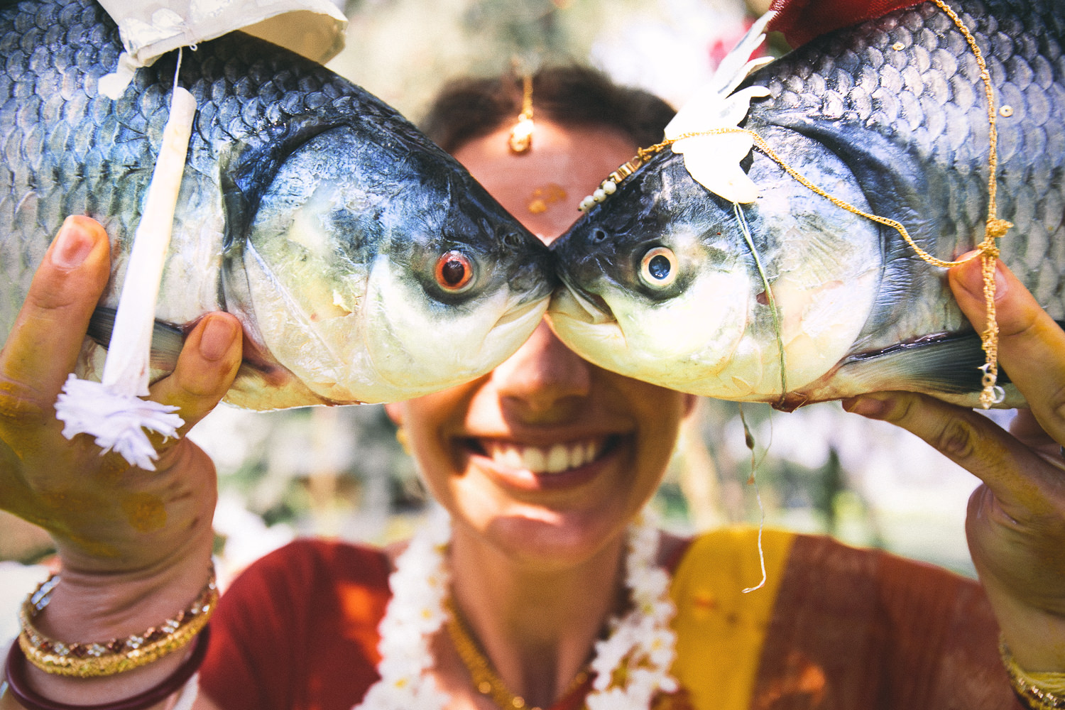 Bengali Wedding with fish - national geographic photo of the day