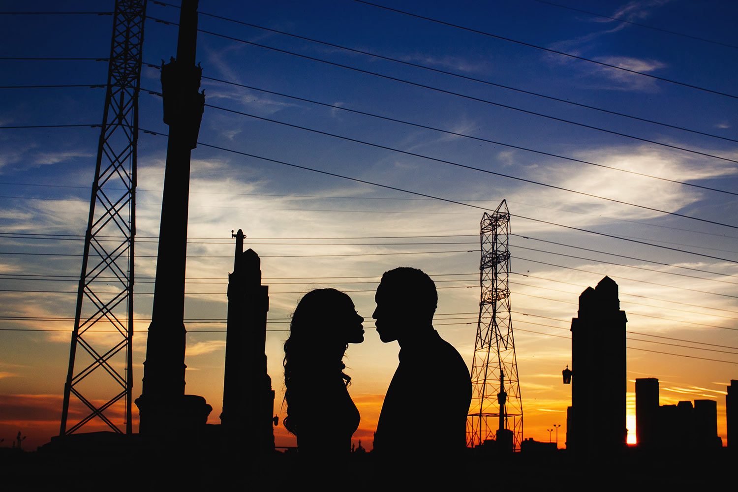 Amazing silhouette Los Angeles engagement session