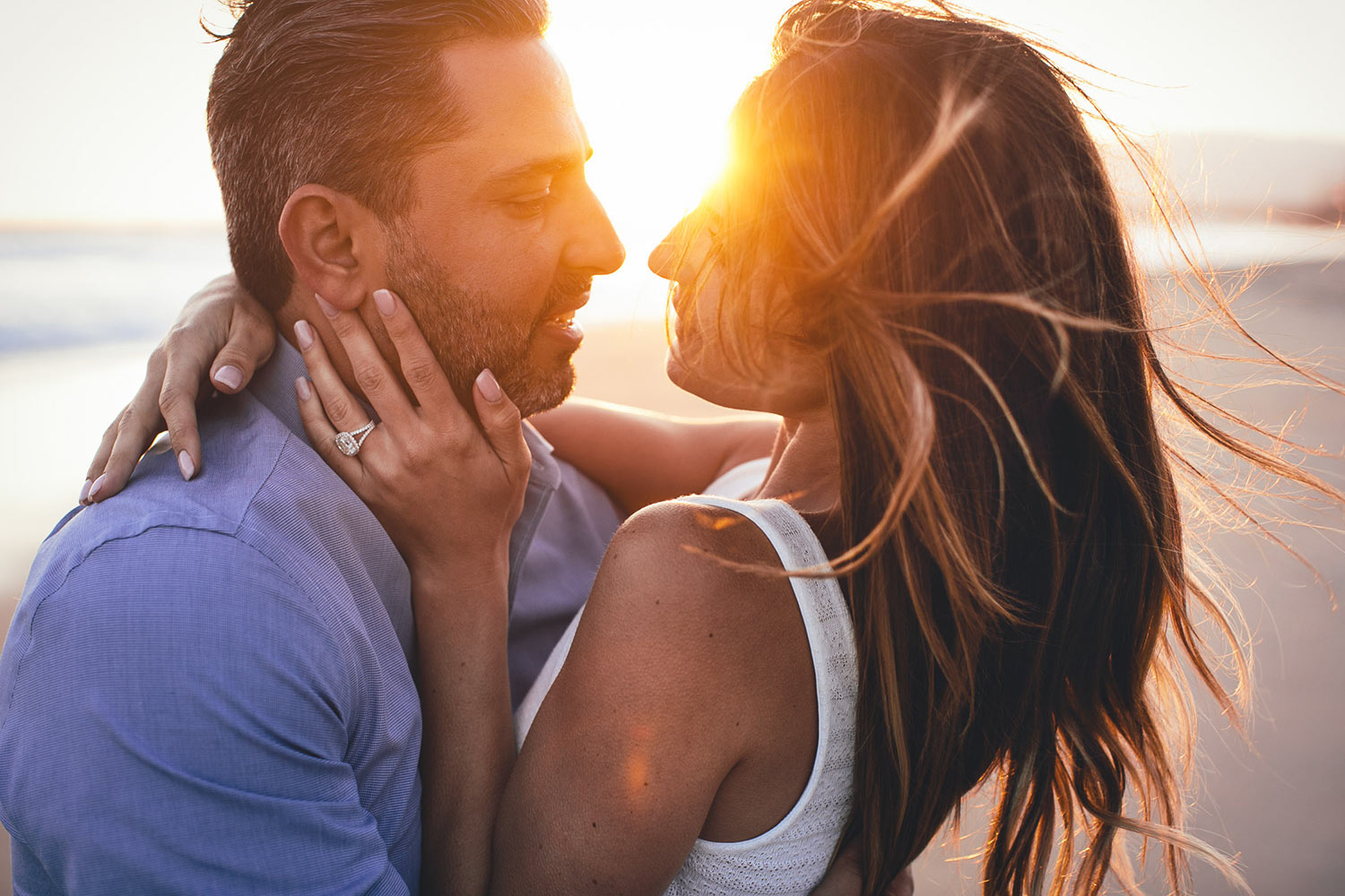 Beautiful Santa Monica Beach Engagement Session photo at Sunset