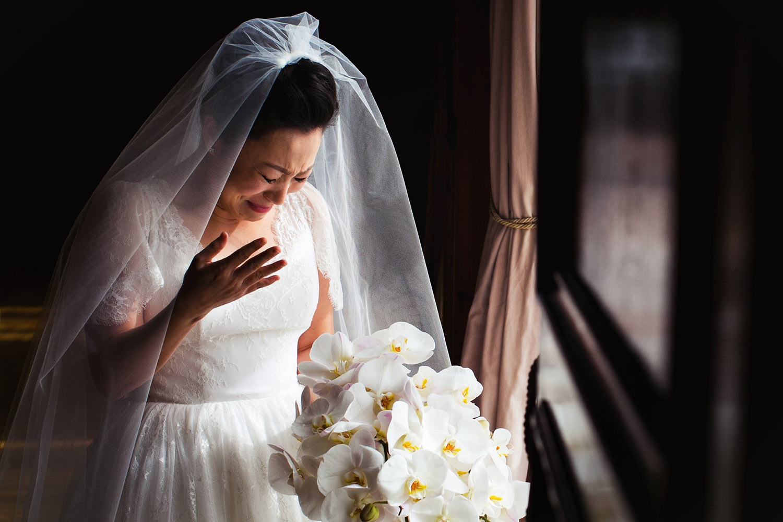 Emotional Los Angeles Asian Wedding Photo
