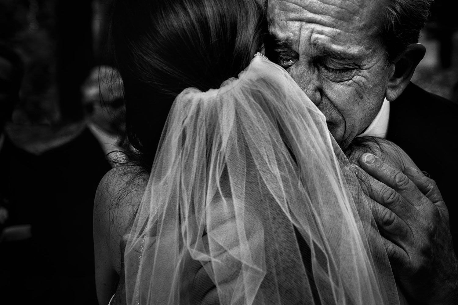 Nothing more emotional than dad giving away his daughter at this Los Angeles Wedding
