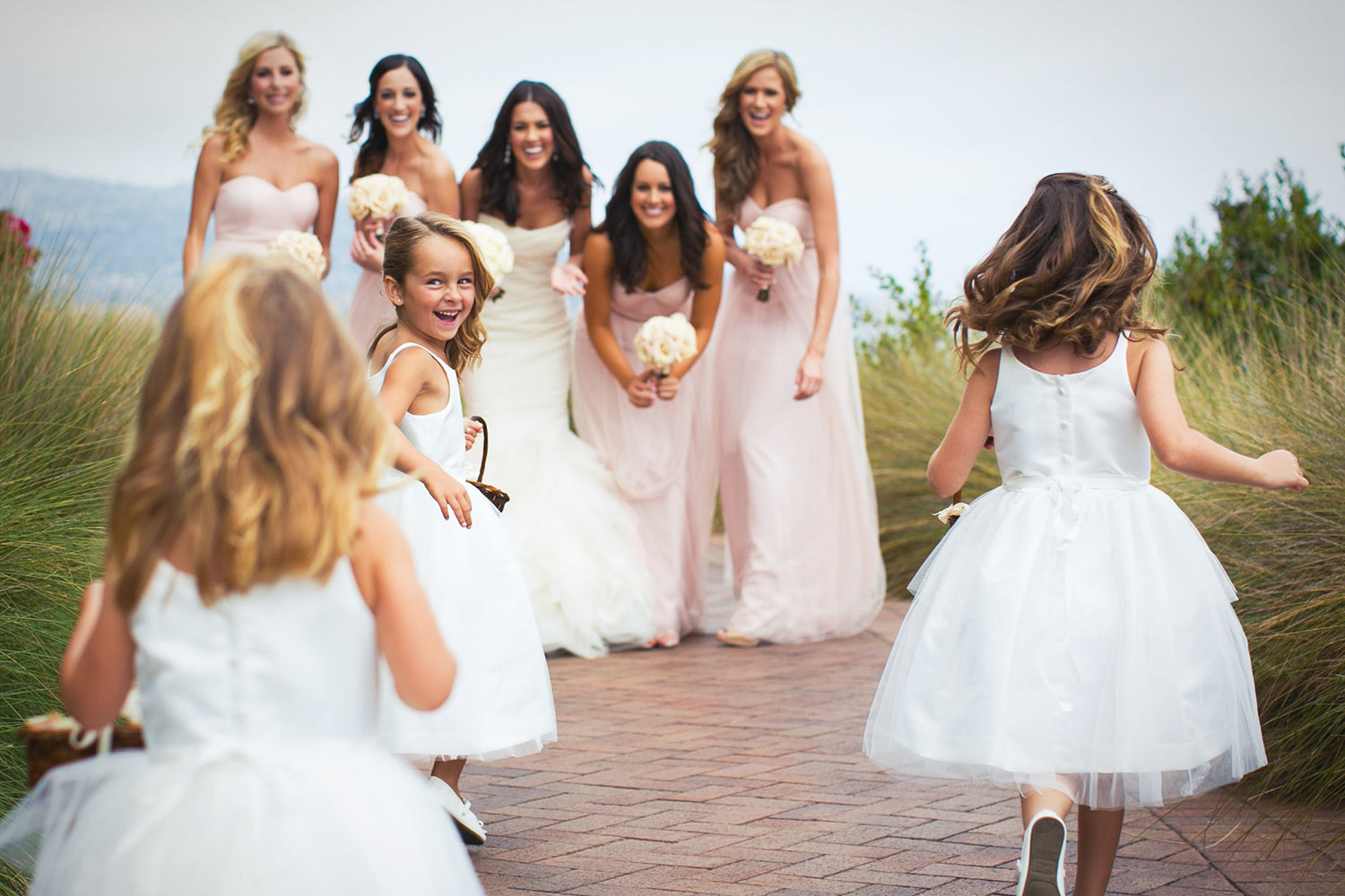 Bridesmaids at Terranea wedding just outside of Los Angeles