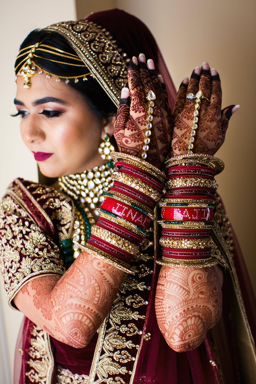 Langham Pasadena Wedding Indian Bride Getting Ready