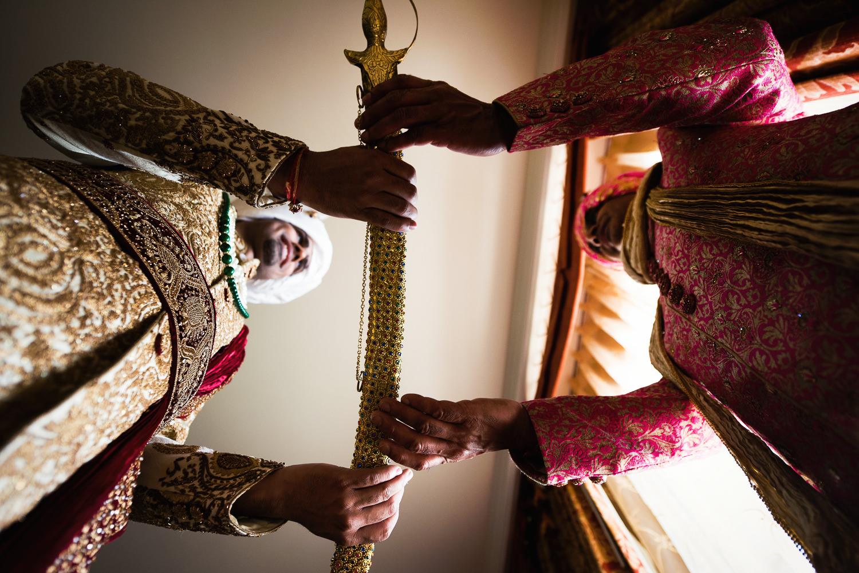 Langham Pasadena Wedding Indian Groom Getting Ready