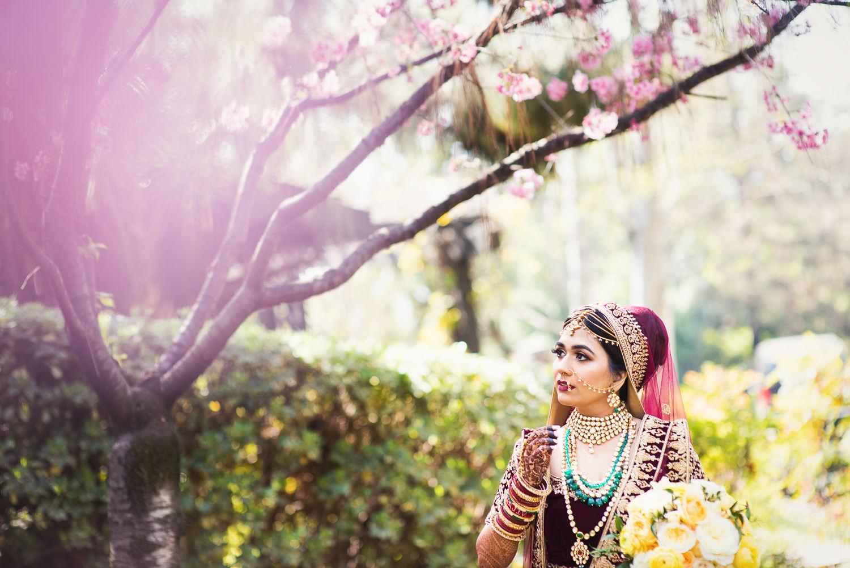 Langham Pasadena Wedding First Look and Portraits