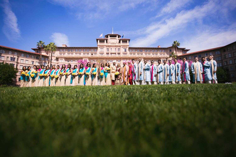 Langham Pasadena Wedding Bridal Party