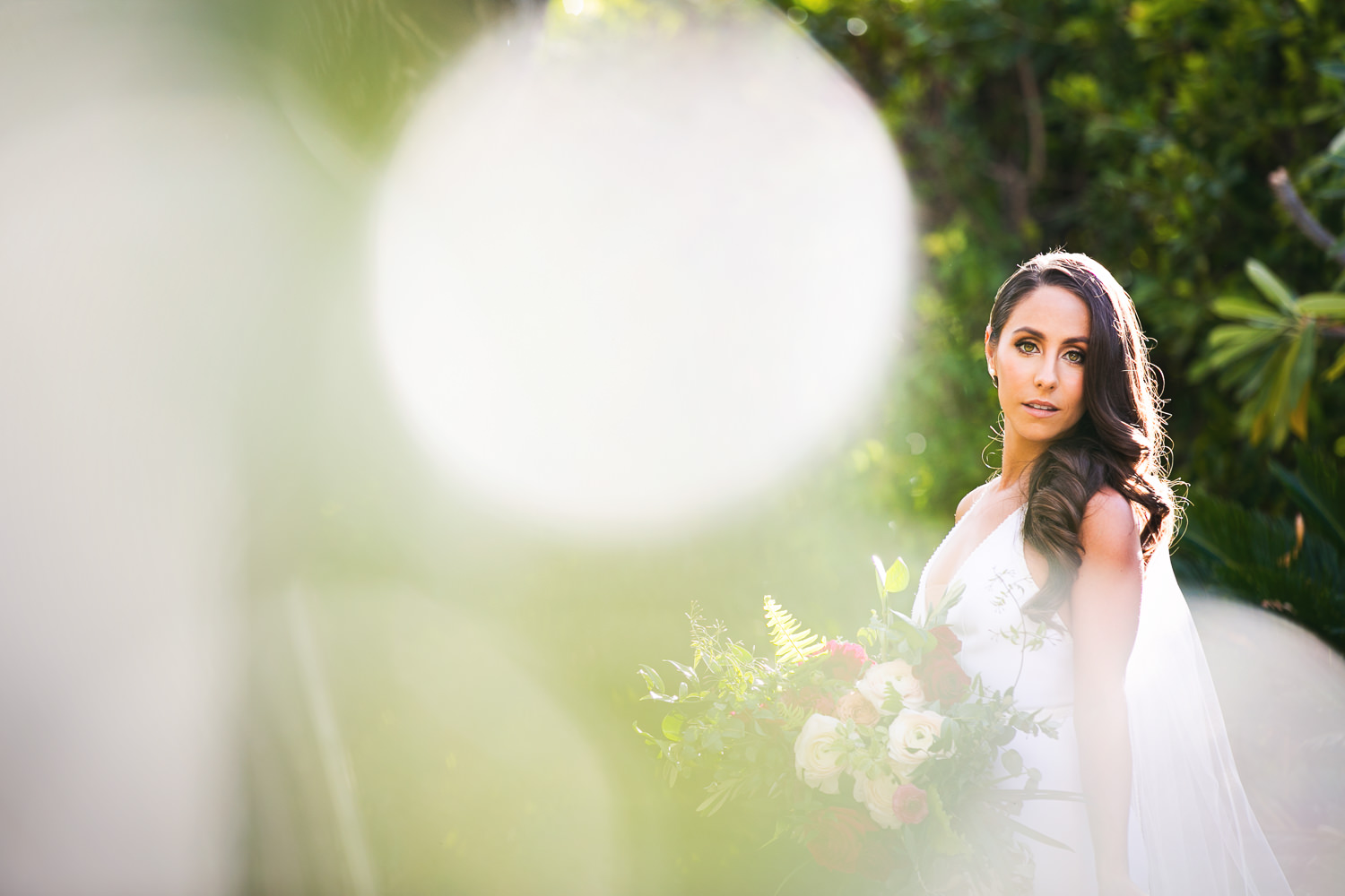Palm Springs Wedding Photo Of Bride With Bouquet