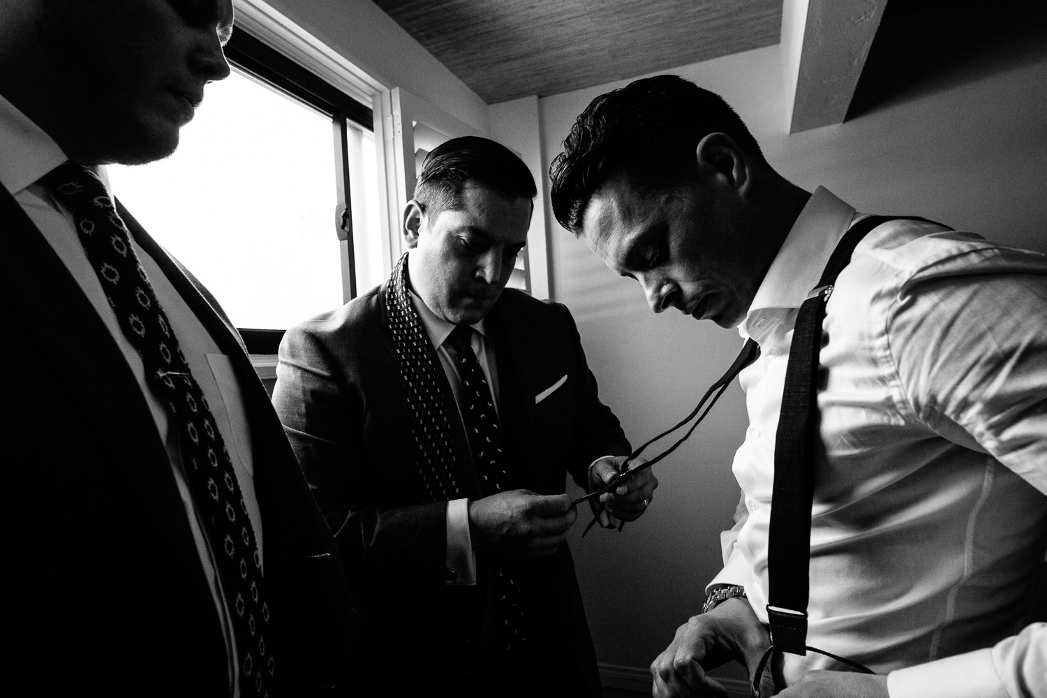 Groom Dressing For His Wedding at the Parker Palm Springs