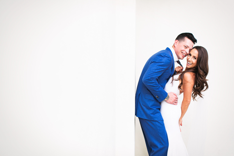 Amazing Palm Springs wedding newly weds