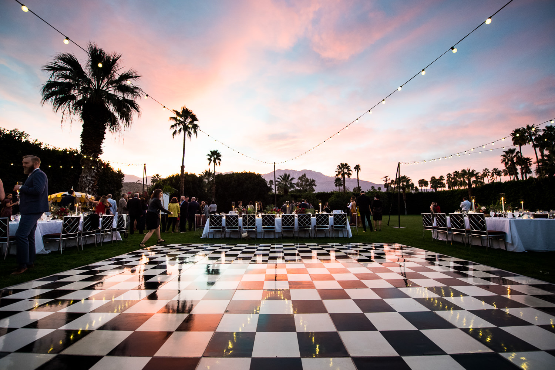 Palm Springs wedding dance floor
