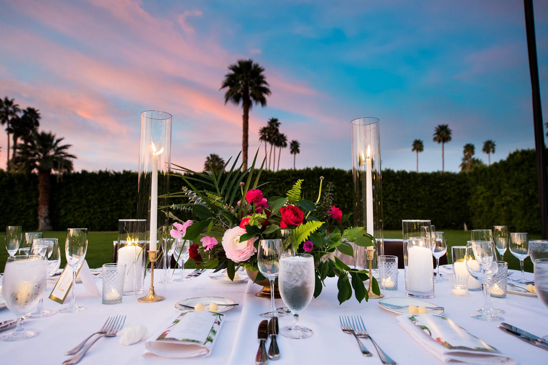 Parker wedding reception table decor