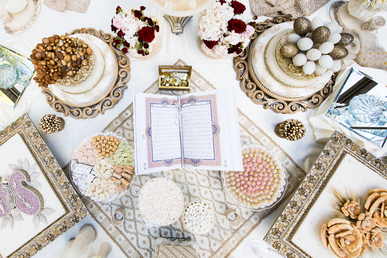 Vibiana Wedding Photographs of Persian sofreh