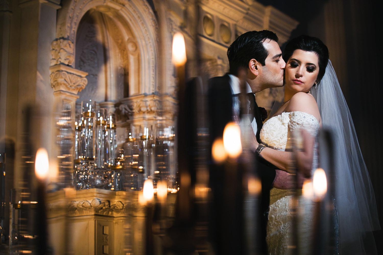 Vibiana Wedding Photographs of Bride and Groom