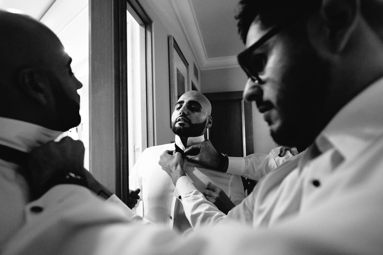 Pelican Hill Photographer - Wedding Groom Getting Ready