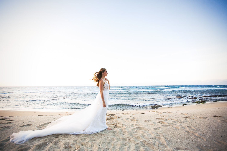 Bride at Four Seasons Hualalai - Big Island Wedding Photographe