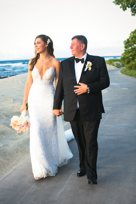 Big Island wedding Photographer photo of Bride and groom at Four Seasons Hualalai