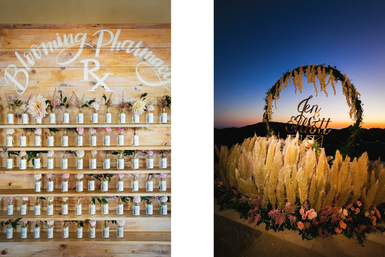 Amazing wedding details by Shawna Yamamoto and Sterling Engagements at Malibu Rocky Oaks Wedding