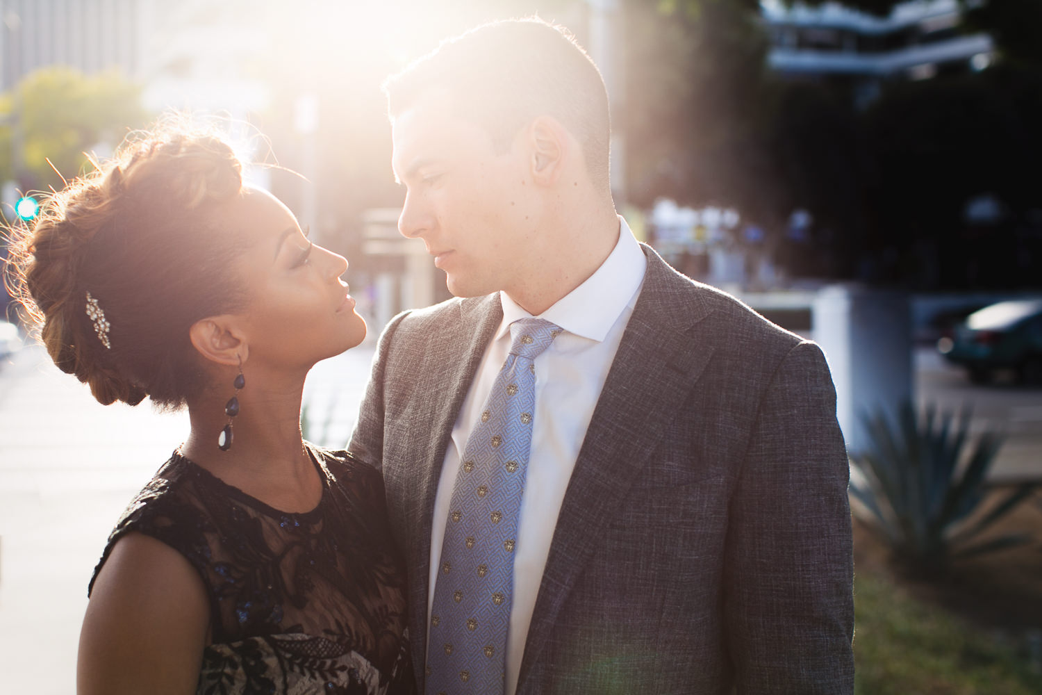 Beautiful African-American Engagement Photo