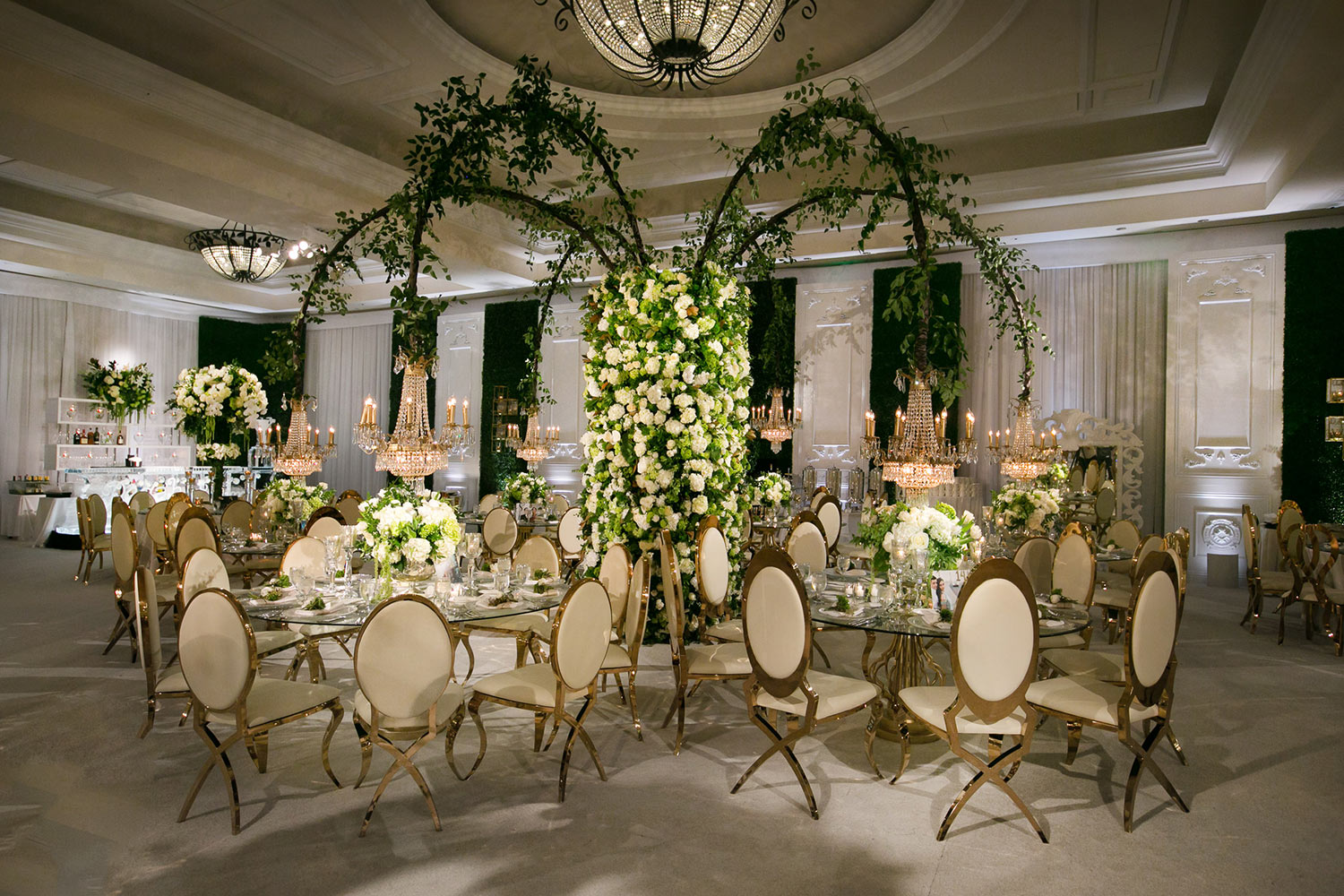 Monarch Beach Resort Square Root designed wedding reception