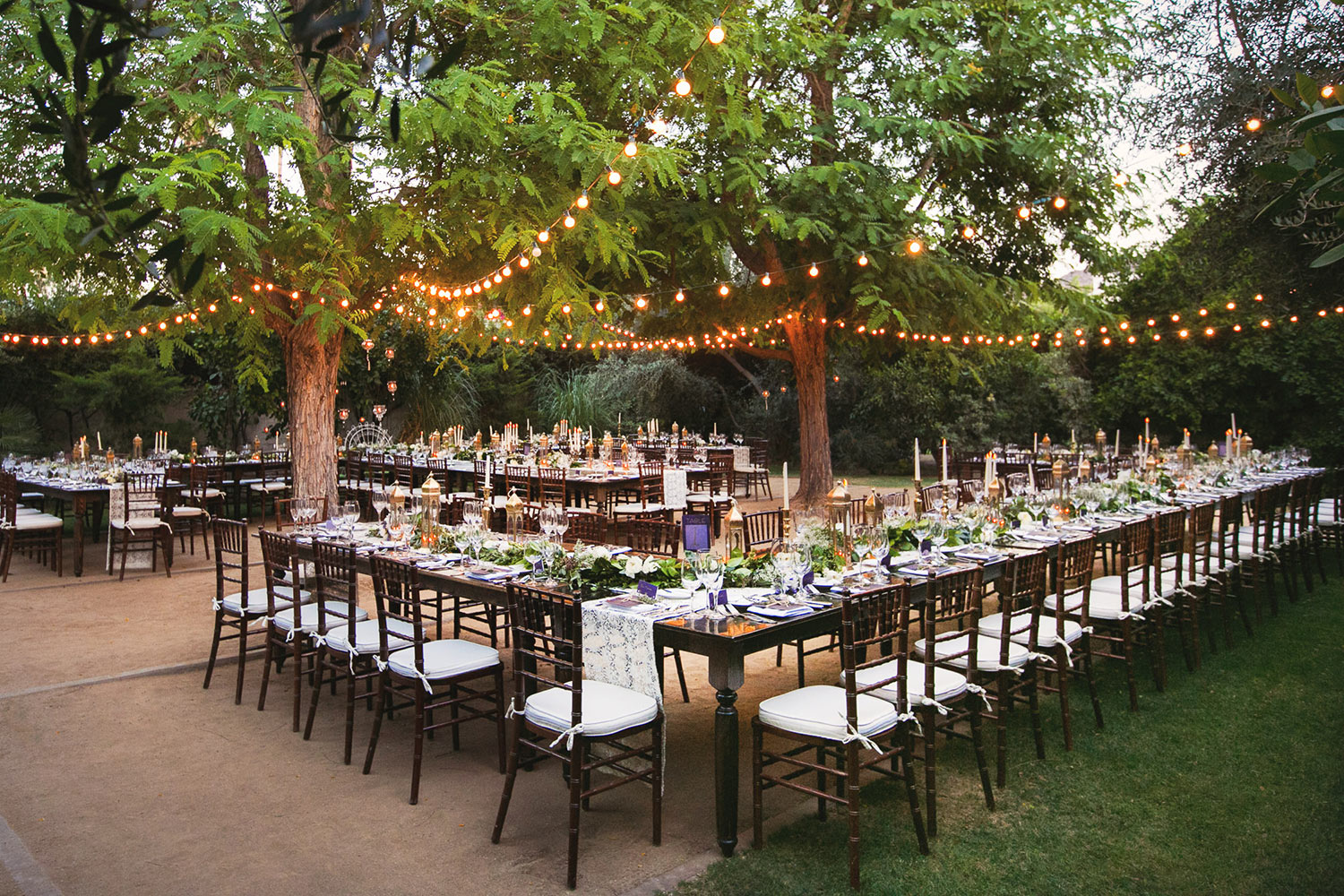 Parker Palm Springs Outdoor Wedding Reception