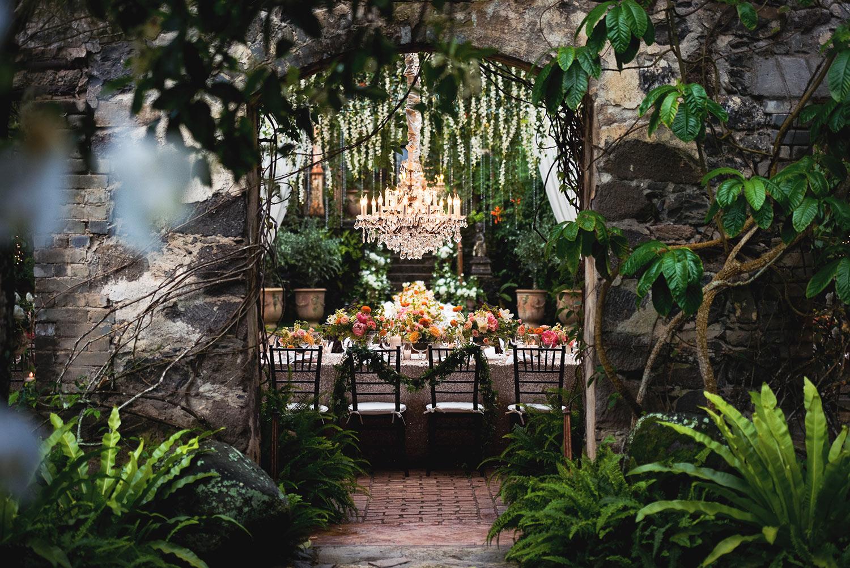 Gorgeous Teresa Sena Designs Haiku Mill wedding