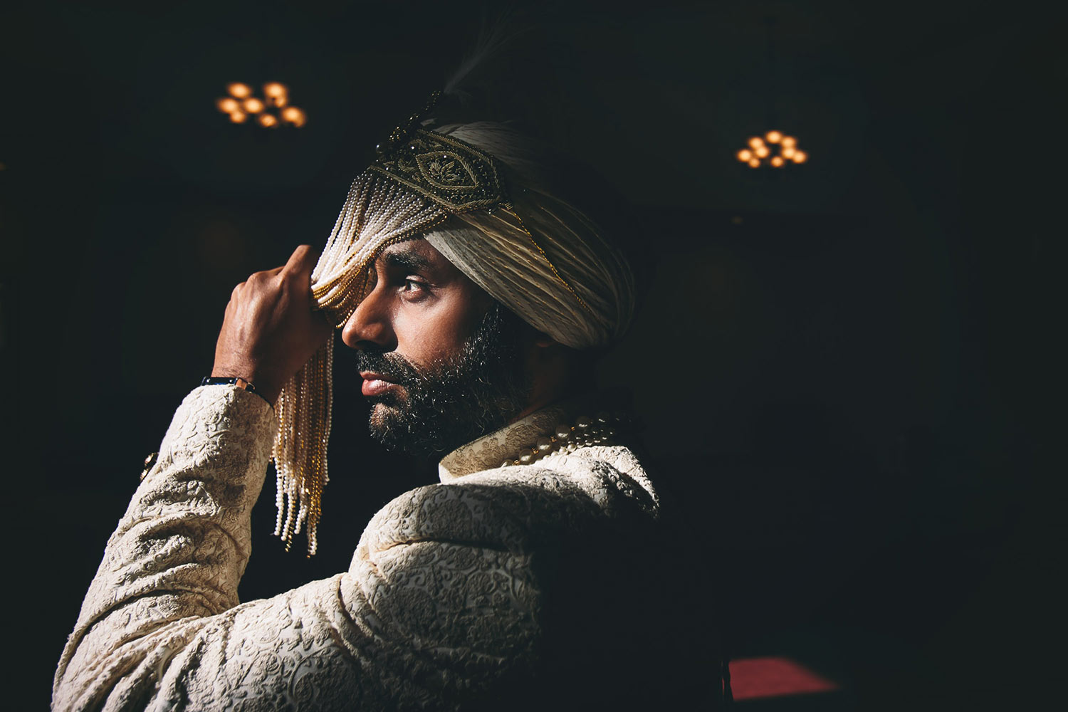 Los Angeles Sikh Wedding Photo of groom