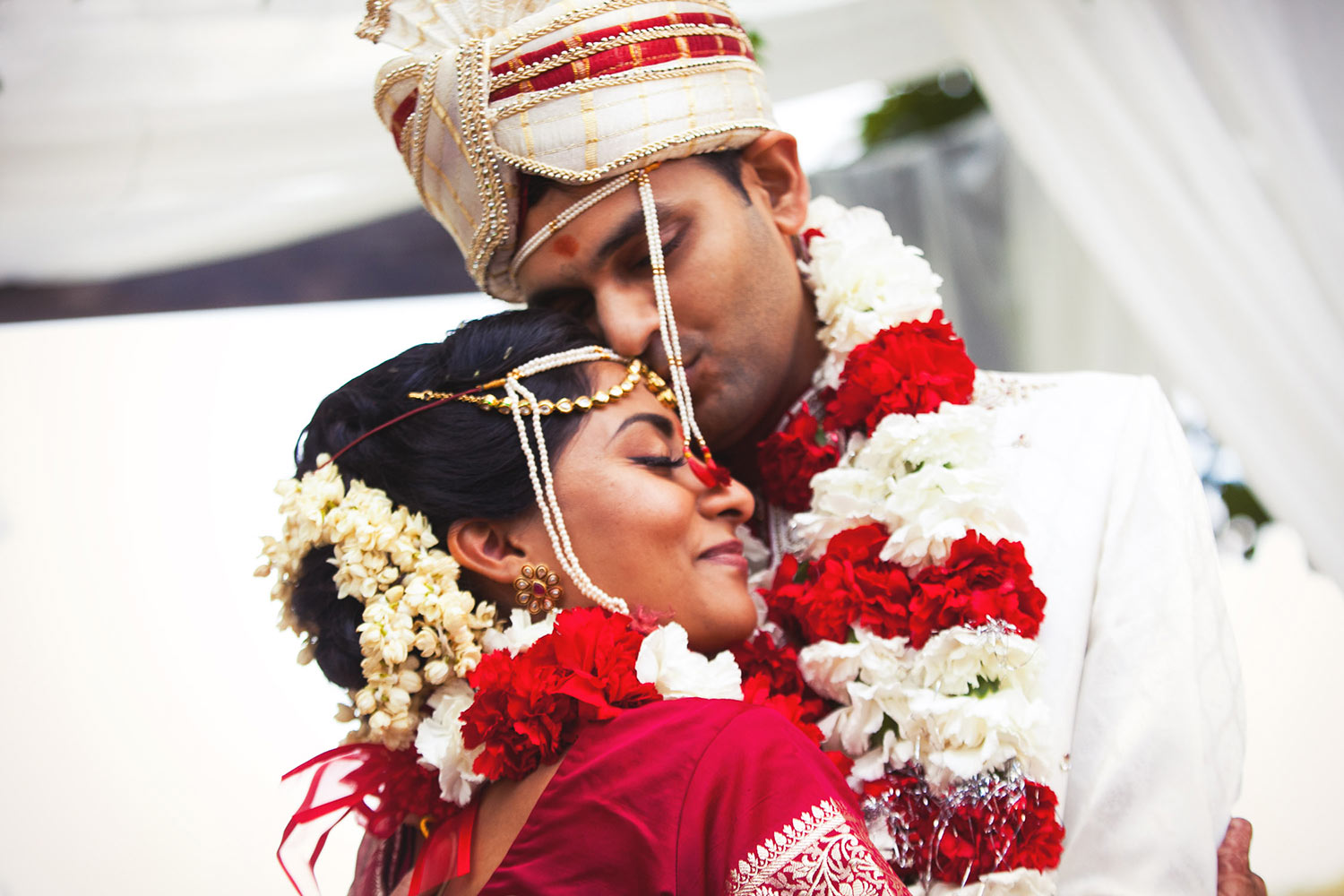 Best Los Angeles Indian Wedding photo of Bride and groom just married