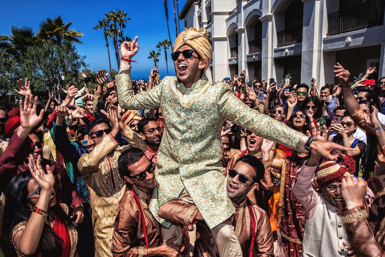 Monarch Beach Resort South Asian baraat going crazy