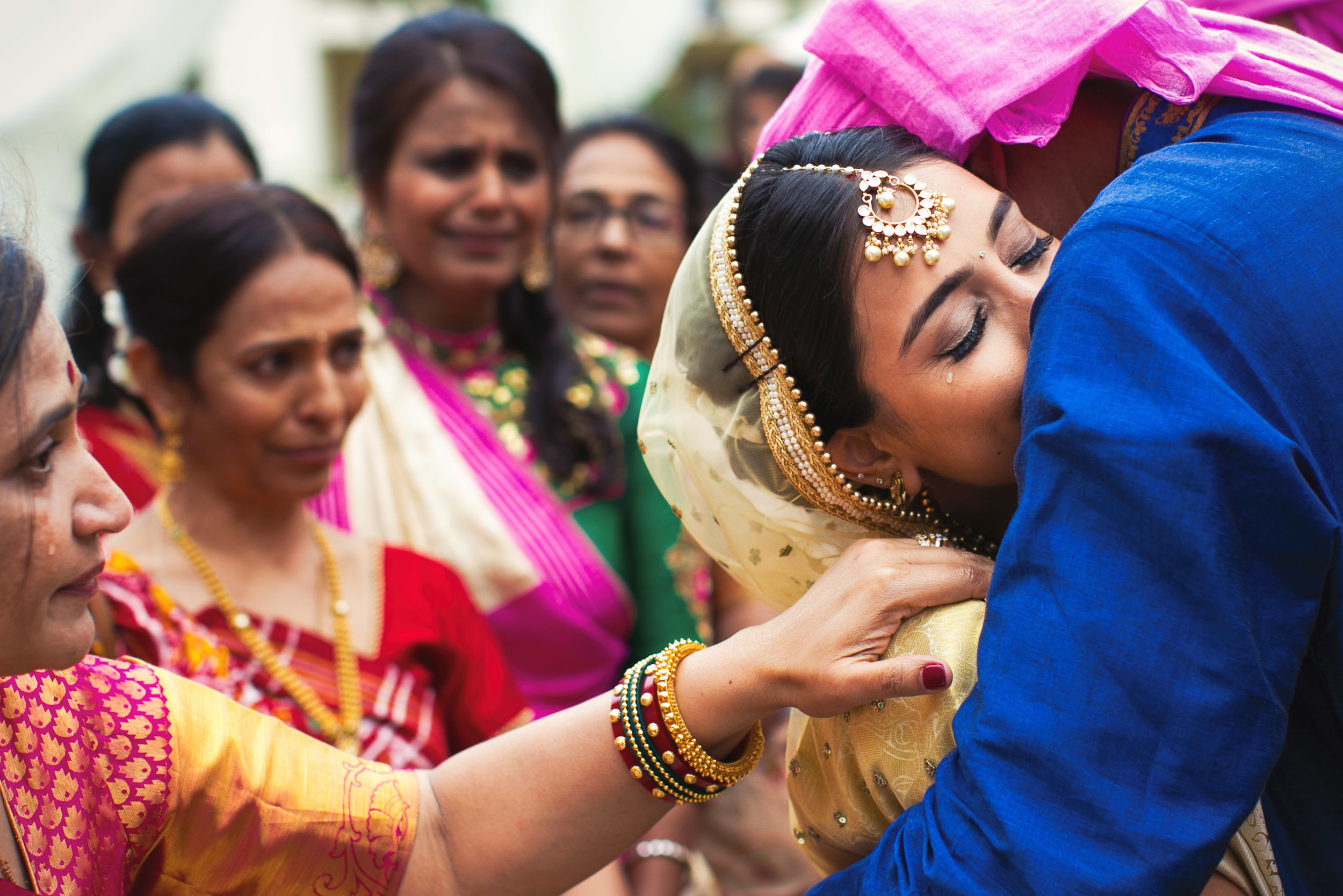 Monarch Beach Resort Indian Doli wedding moment of bride crying