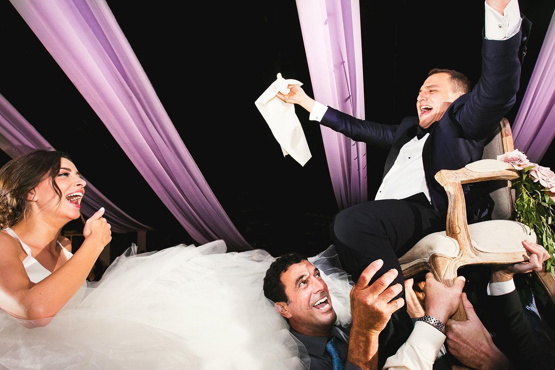 Hora at Jewish wedding at Hummingbird Nest Ranch