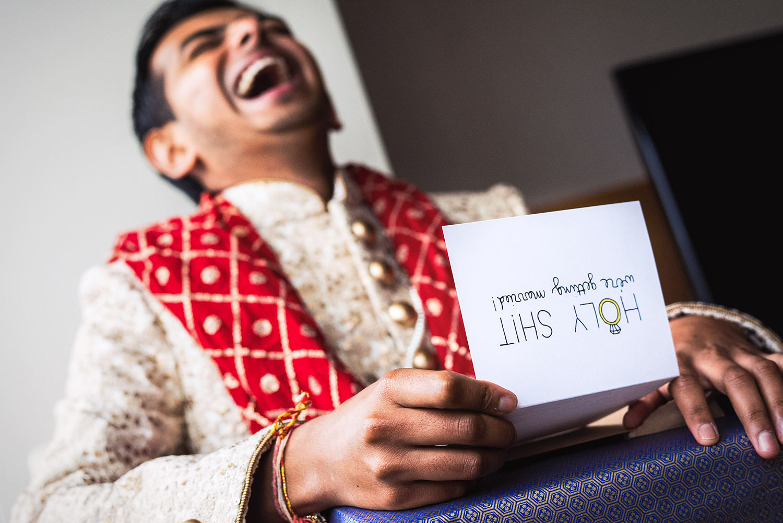 Hyatt Long Beach Indian wedding photo of groom