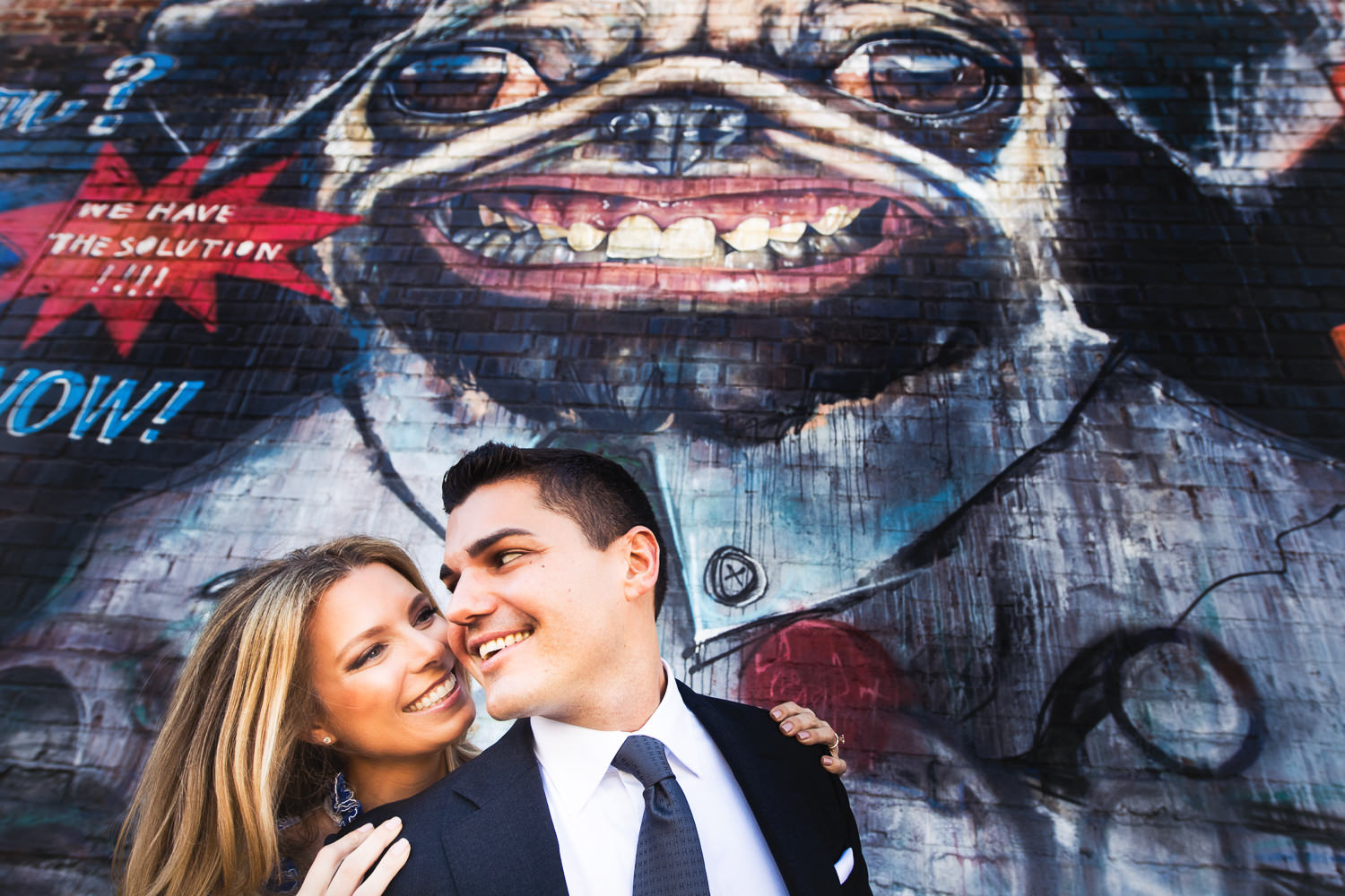 Arts District Engagement With Hip Couple