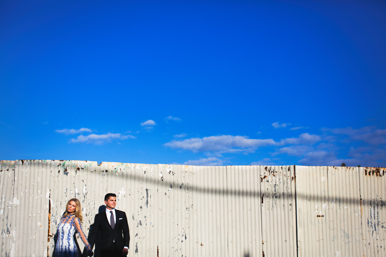 Hip Arts District Engagement With Fashionable Couple