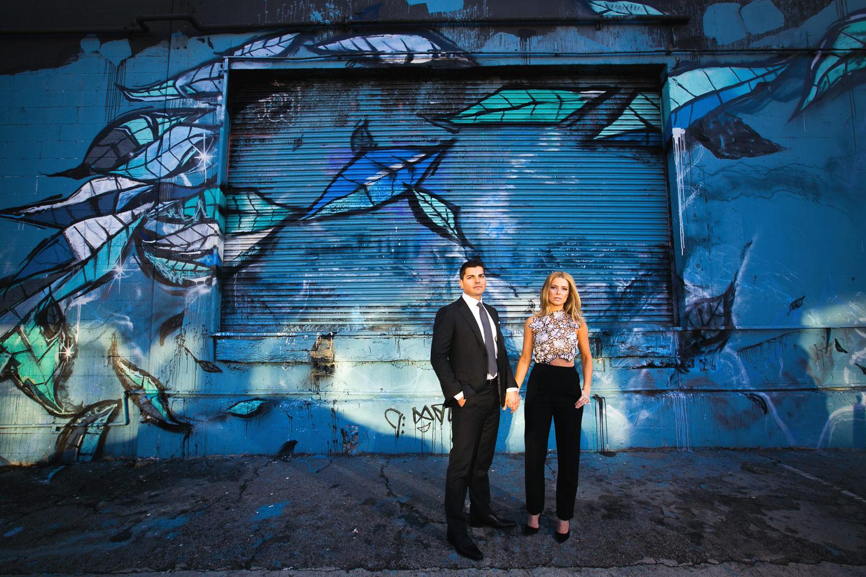 Fashionable Couples Arts District Engagement