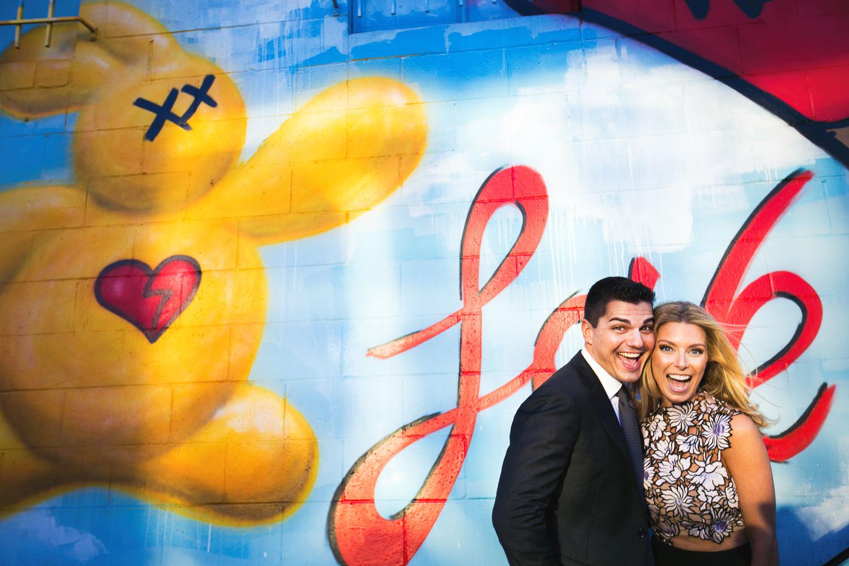 Cute Couples Arts District Engagement
