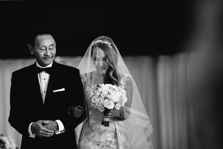 Vibiana Wedding Venue - Bride Walking The Aisle